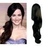 Clip in příčesek culík/cop 100% lidské vlasy 50cm vlnitý - přírodní černá