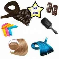 Deluxe Clip in package – clip in 53cm REMY 100% human hair